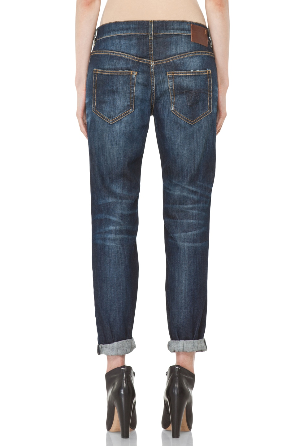 Image 4 of R13 Relaxed Skinny Jean in Dirty Dark