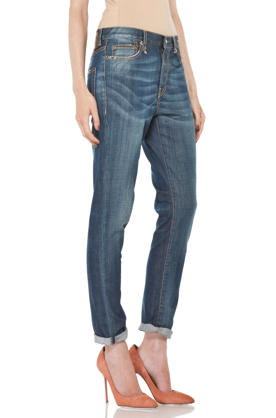 Image 3 of R13 Slouchy Skinny Jean in Blue