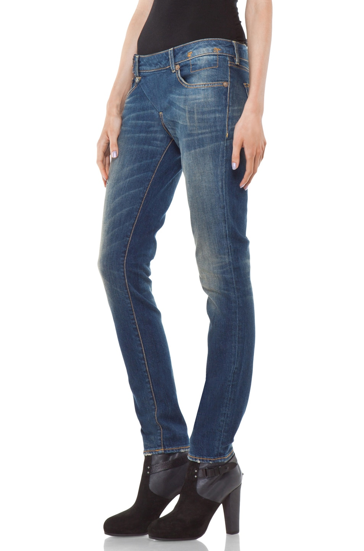 Image 2 of R13 Zip Skinny Jean in Medium Blue