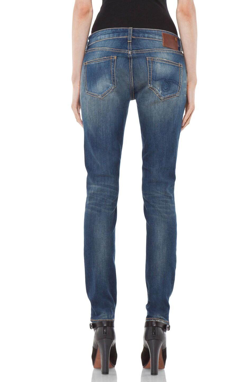 Image 4 of R13 Zip Skinny Jean in Medium Blue