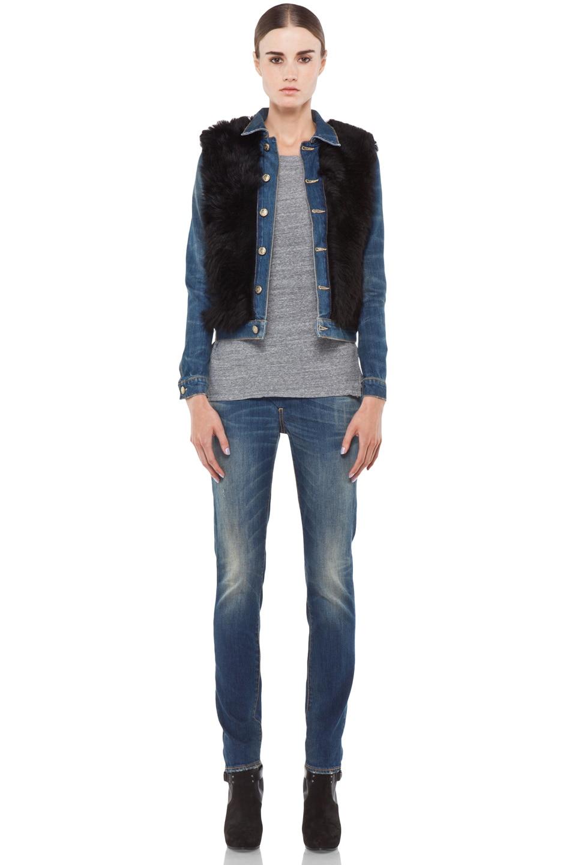 Image 5 of R13 Zip Skinny Jean in Medium Blue
