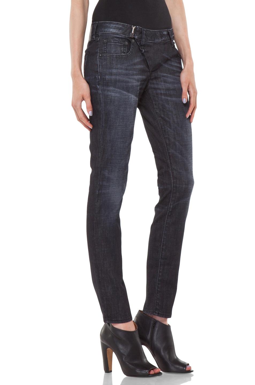 Image 3 of R13 Zip Skinny Jean in Cross Hatch Black