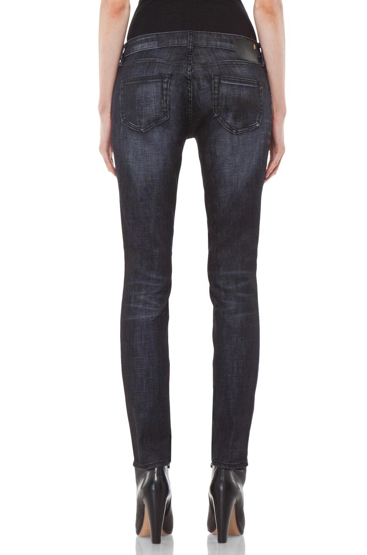 Image 4 of R13 Zip Skinny Jean in Cross Hatch Black