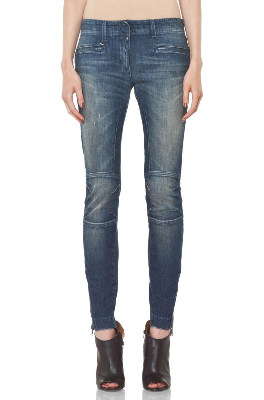 Image 1 of R13 Moto Jean in Medium Blue