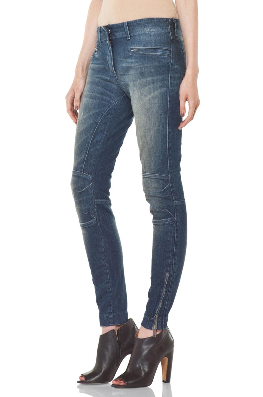 Image 2 of R13 Moto Jean in Medium Blue