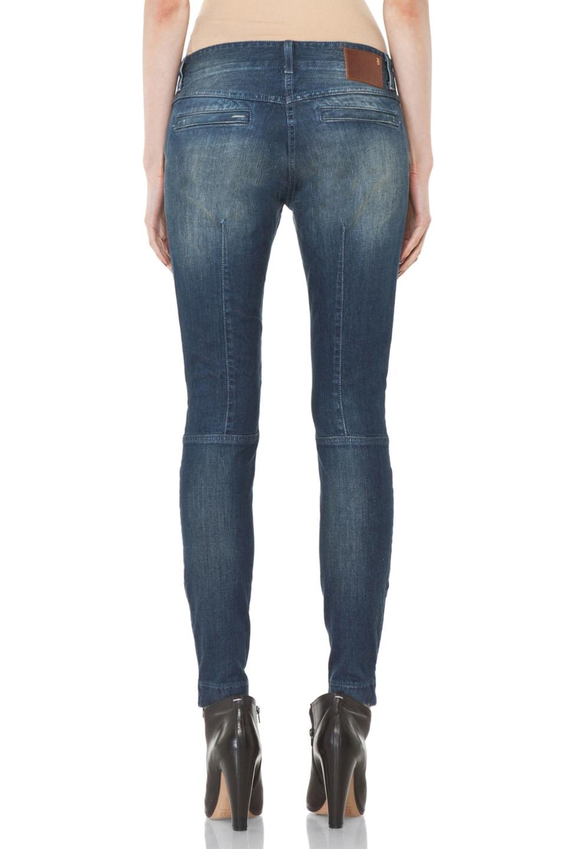 Image 4 of R13 Moto Jean in Medium Blue