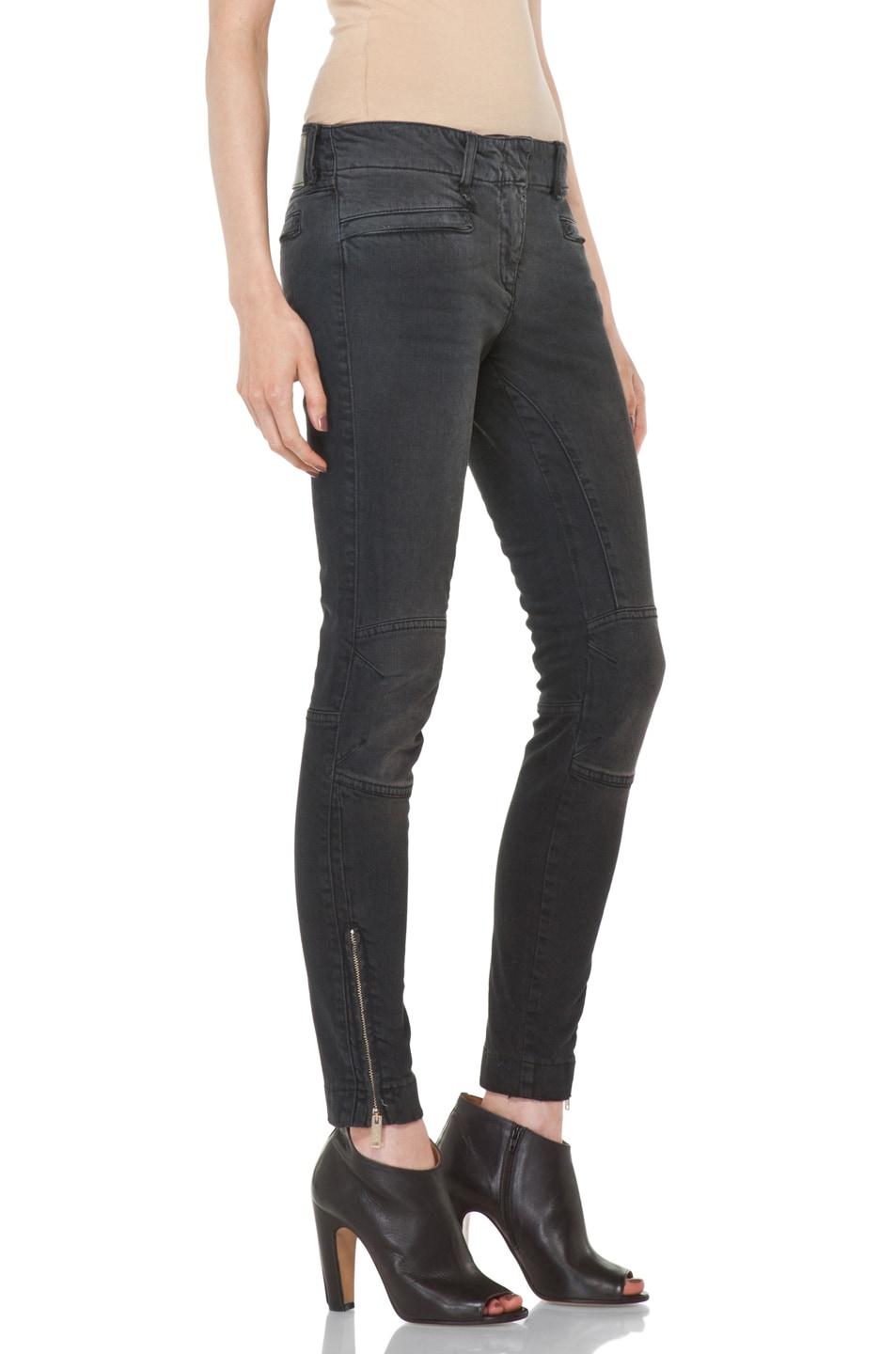 Image 3 of R13 Moto Jean in Black