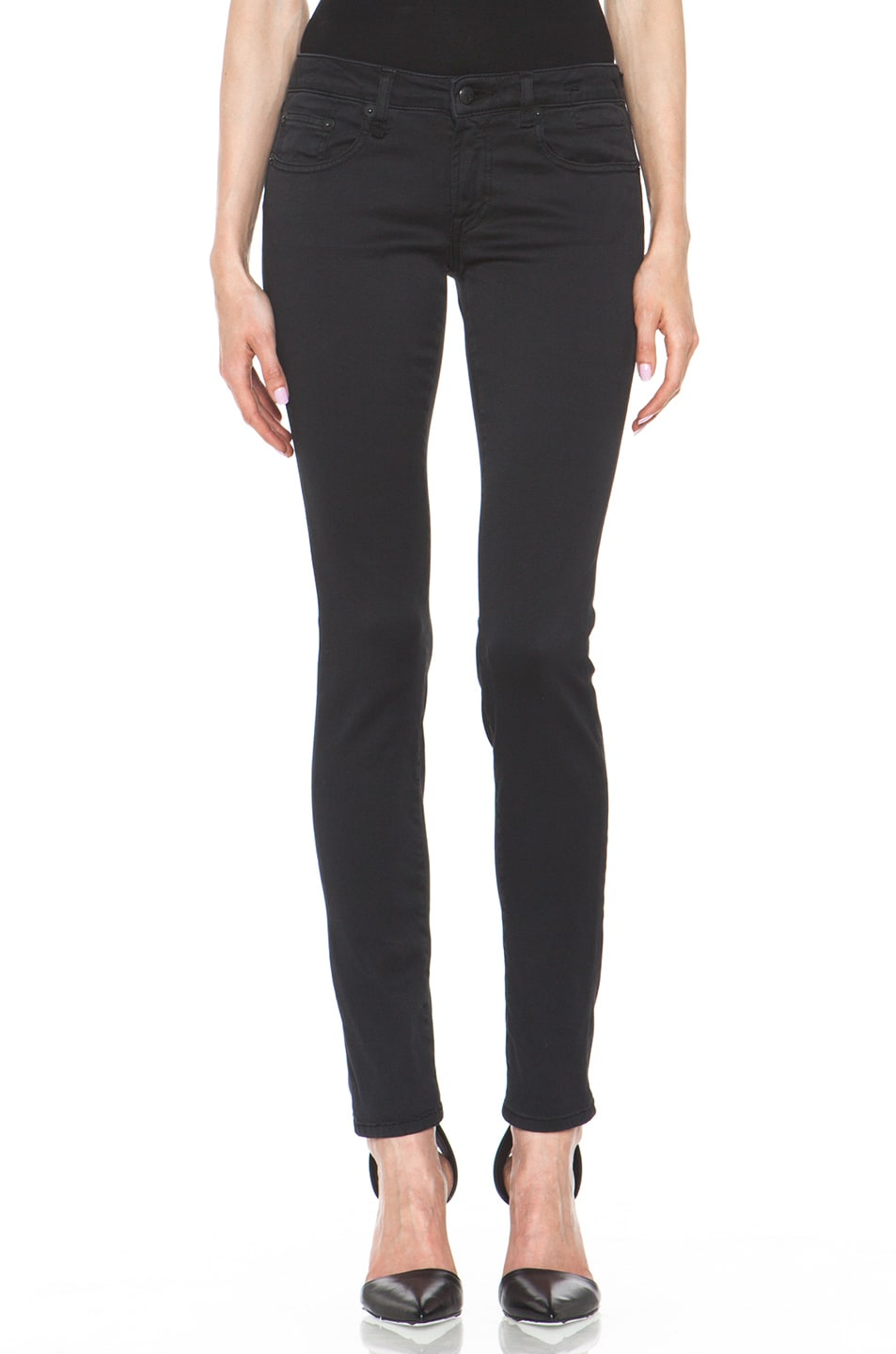 Image 1 of R13 Skinny Jean in Super Black