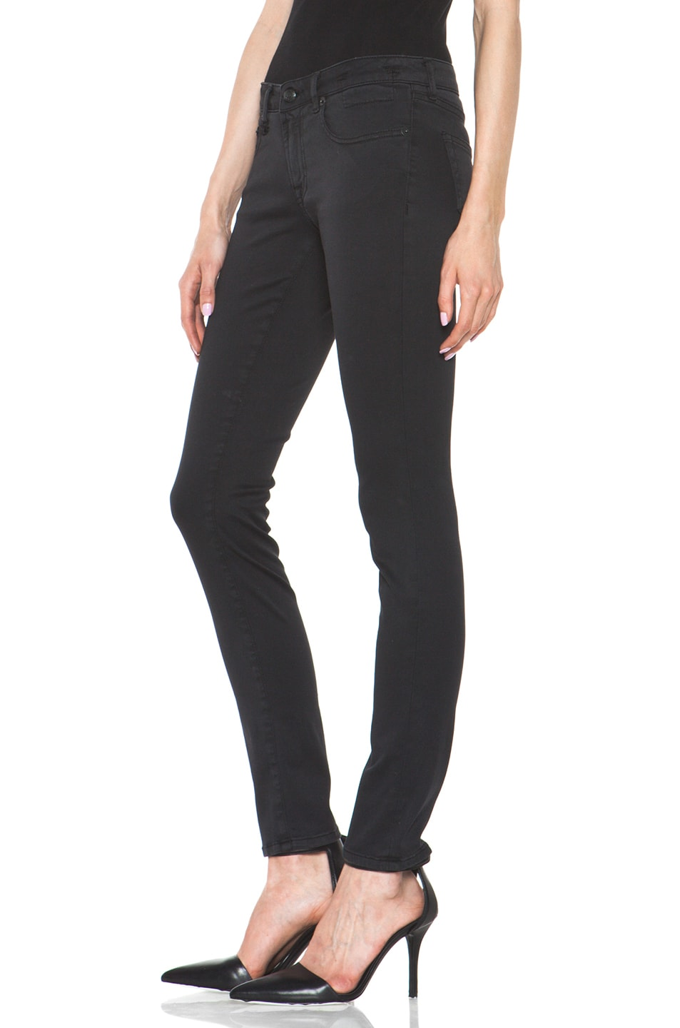 Image 2 of R13 Skinny Jean in Super Black