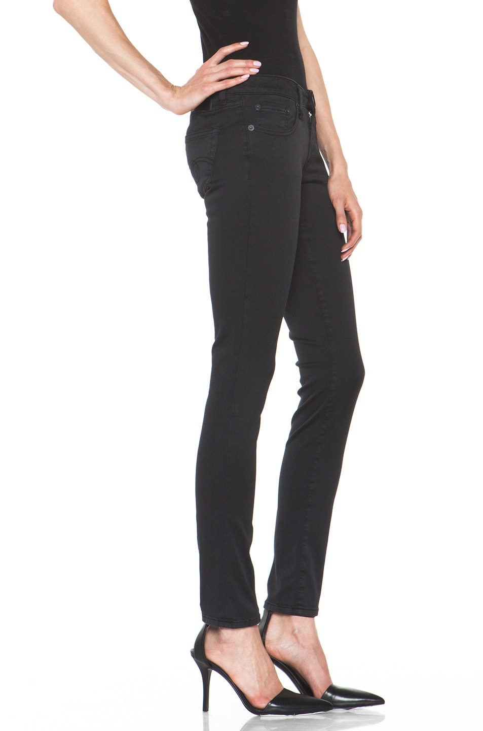 Image 3 of R13 Skinny Jean in Super Black