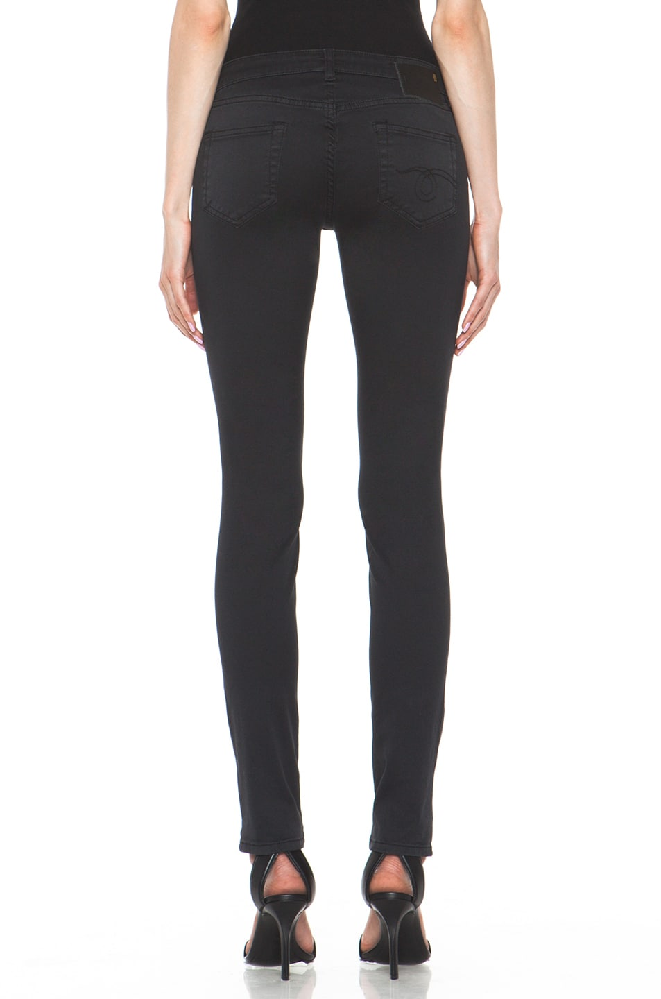 Image 4 of R13 Skinny Jean in Super Black