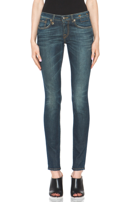 Image 1 of R13 Skinny Jean in Dirty Blue