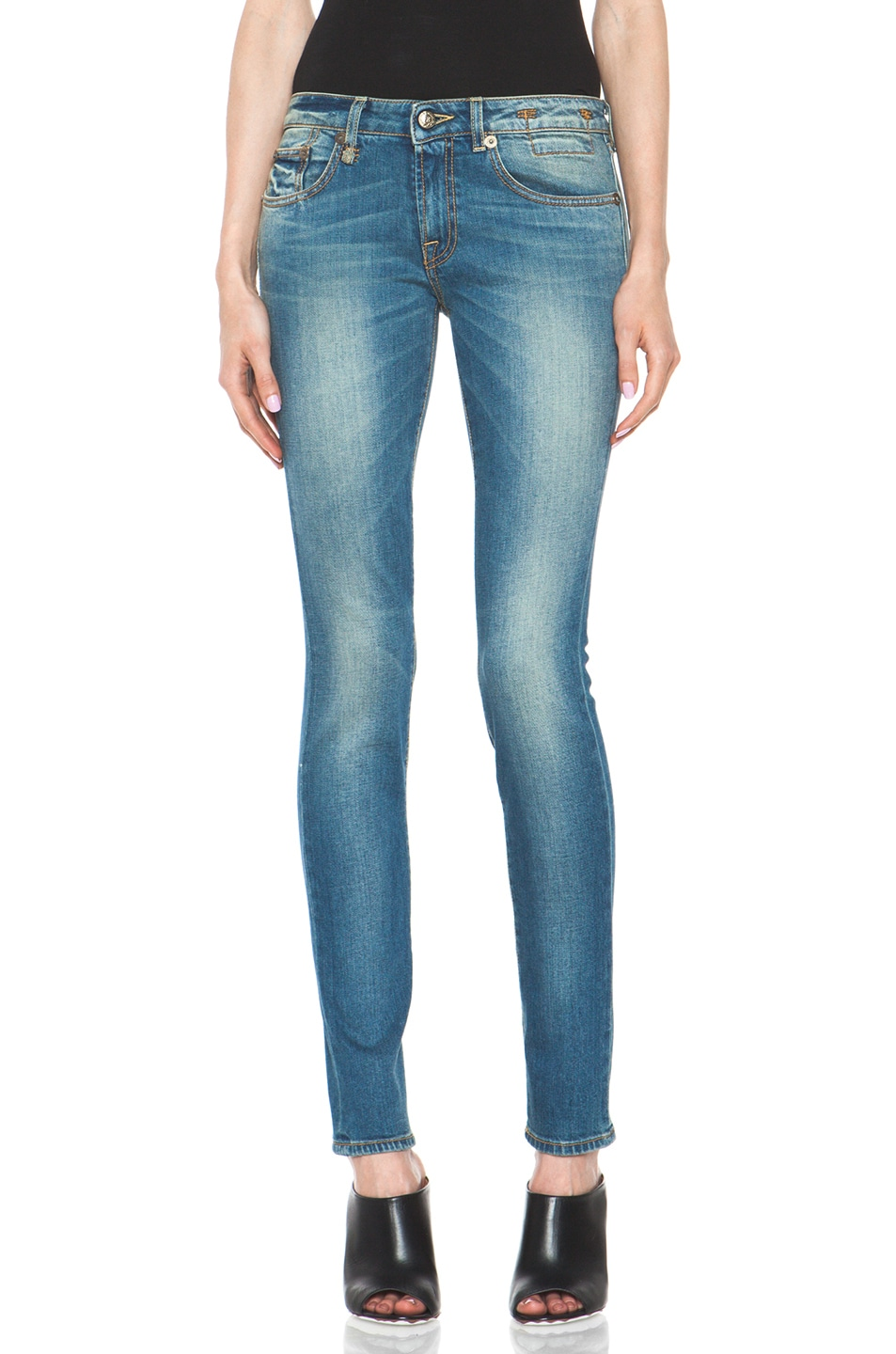 Image 1 of R13 Skinny Jean in Light Medium