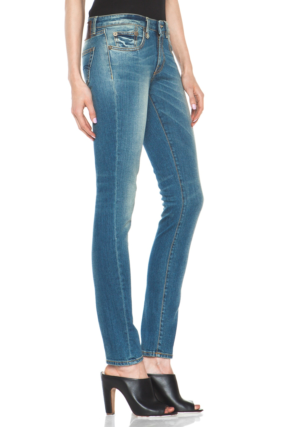 Image 3 of R13 Skinny Jean in Light Medium