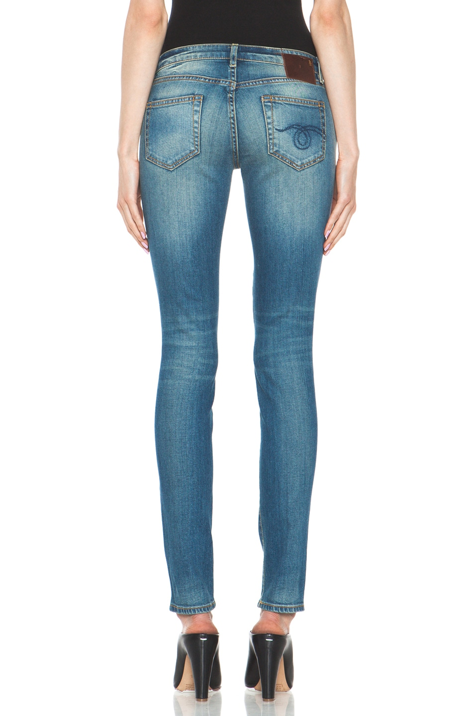 Image 4 of R13 Skinny Jean in Light Medium
