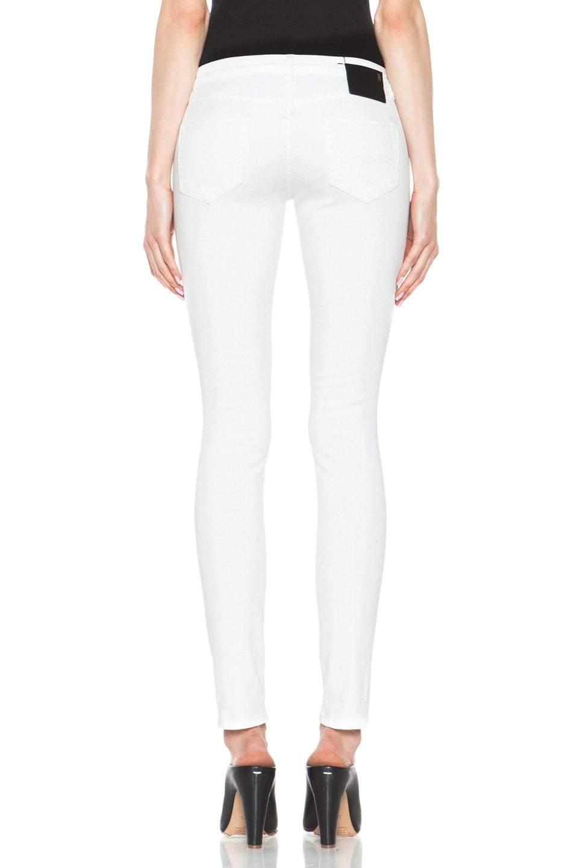 Image 4 of R13 Skinny Jean in White Shredded