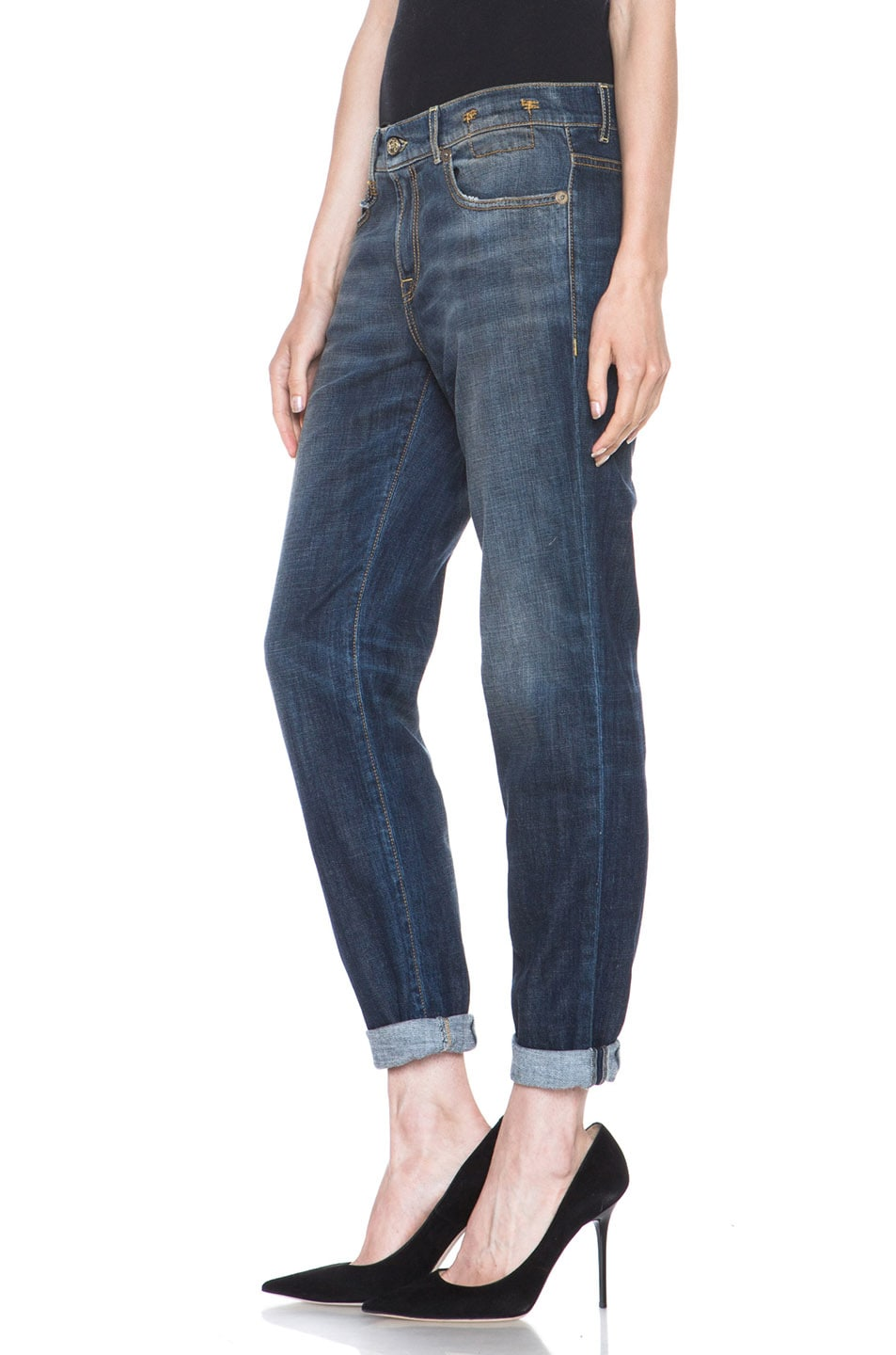 Image 2 of R13 Relaxed Skinny Jean in Dark Blue