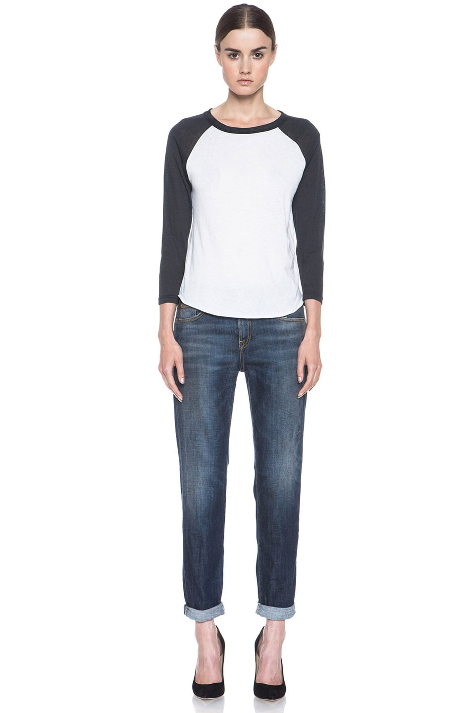 Image 5 of R13 Relaxed Skinny Jean in Dark Blue