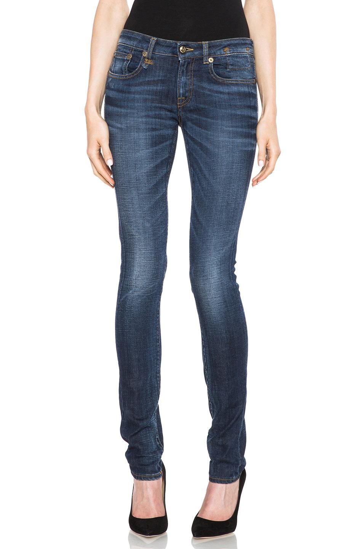 Image 1 of R13 Skinny Jean in Clean Medium