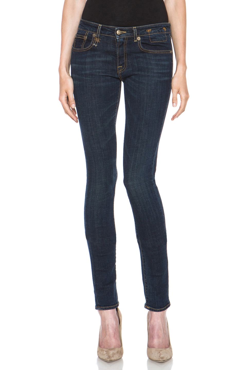 Image 1 of R13 Skinny Jean in Clean Dark