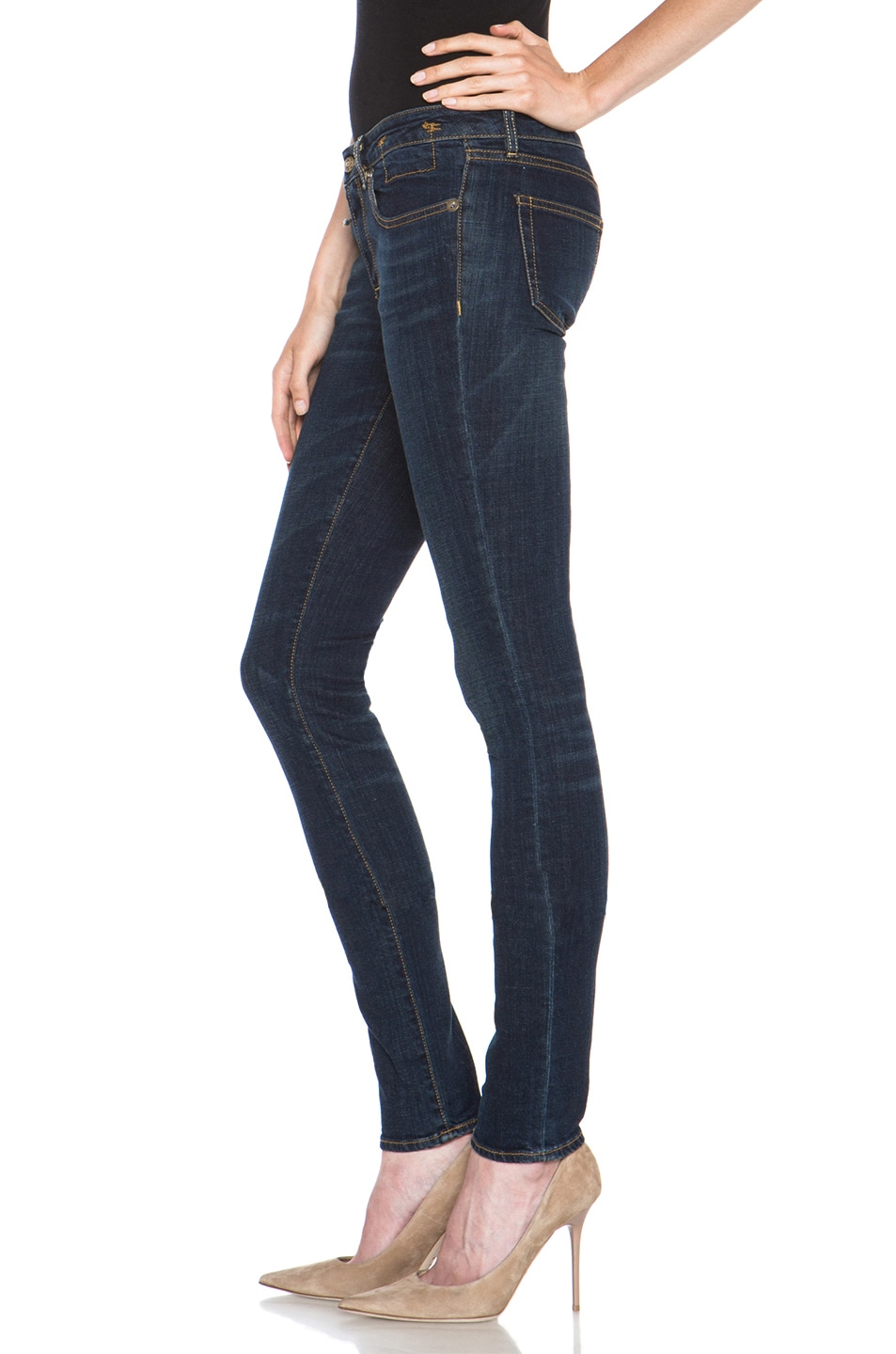Image 2 of R13 Skinny Jean in Clean Dark