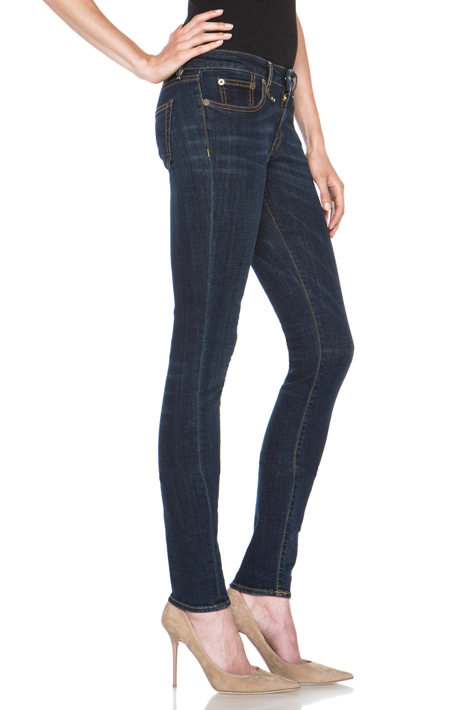 Image 3 of R13 Skinny Jean in Clean Dark