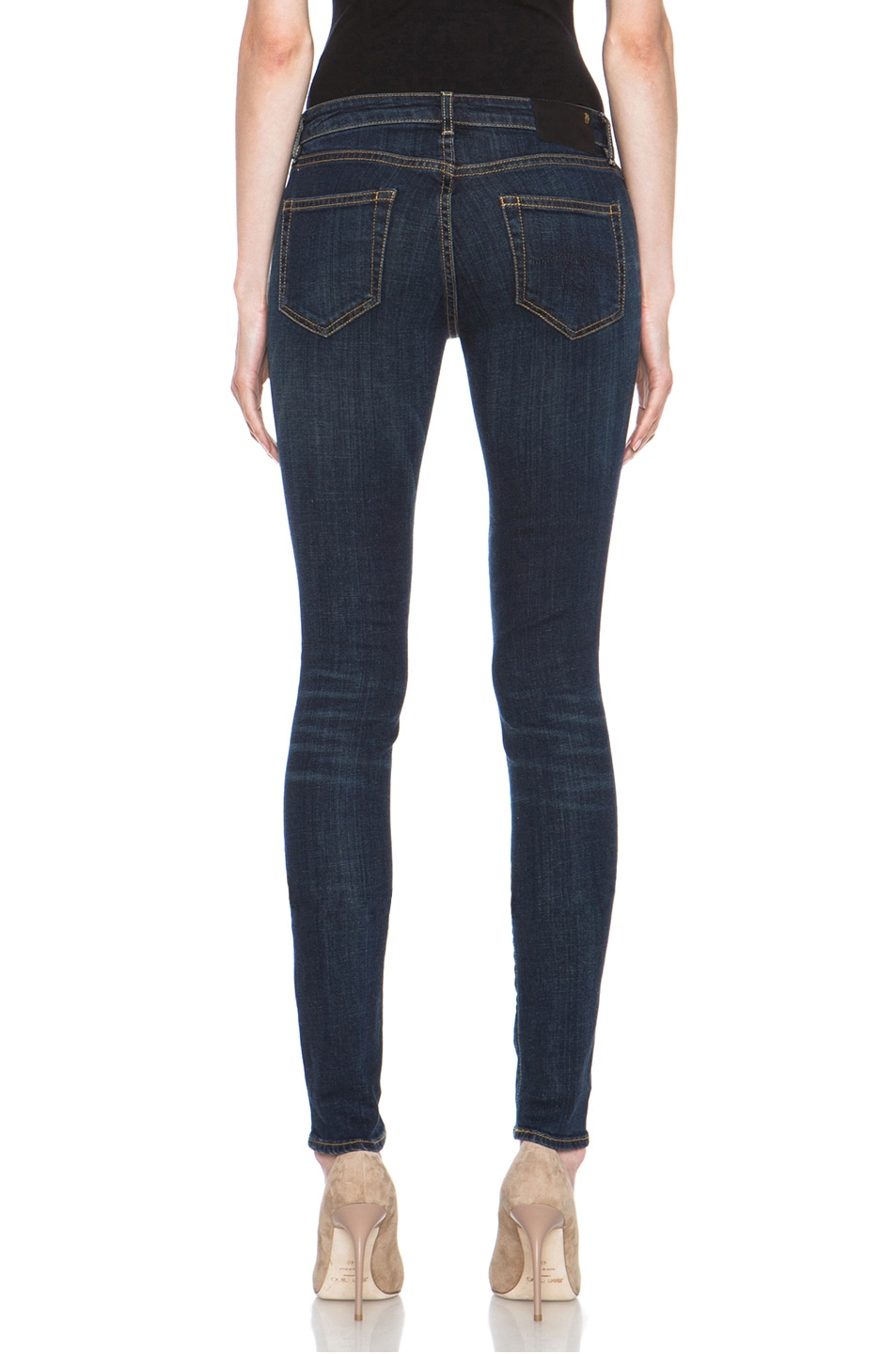 Image 4 of R13 Skinny Jean in Clean Dark