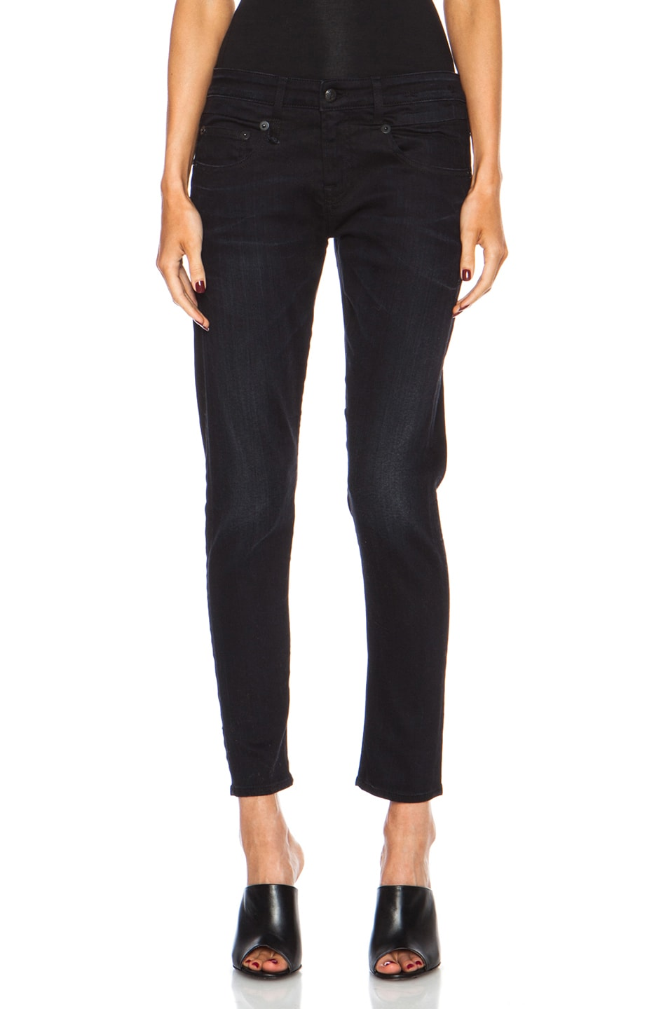 Image 1 of R13 Boy Skinny Jean in Black