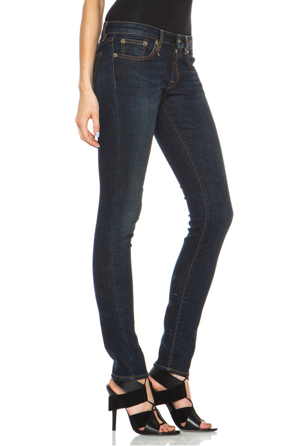 Image 3 of R13 Skinny Jean in Dark Indigo