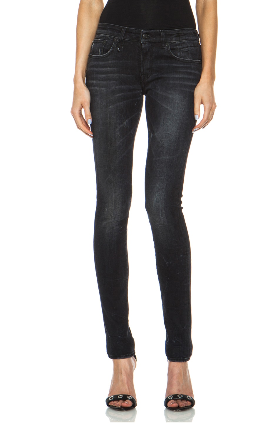 Image 1 of R13 Skinny Jean in Black Marble
