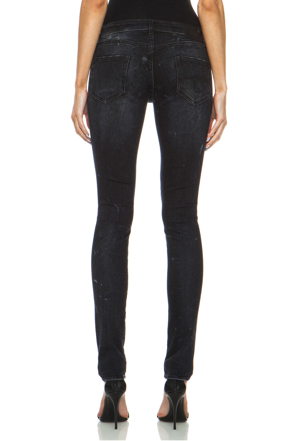 Image 4 of R13 Skinny Jean in Black Marble