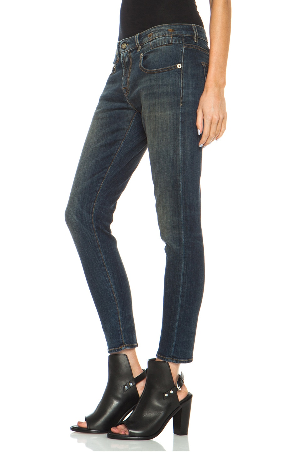 Image 2 of R13 Boy Skinny Jean in Vintage Dark