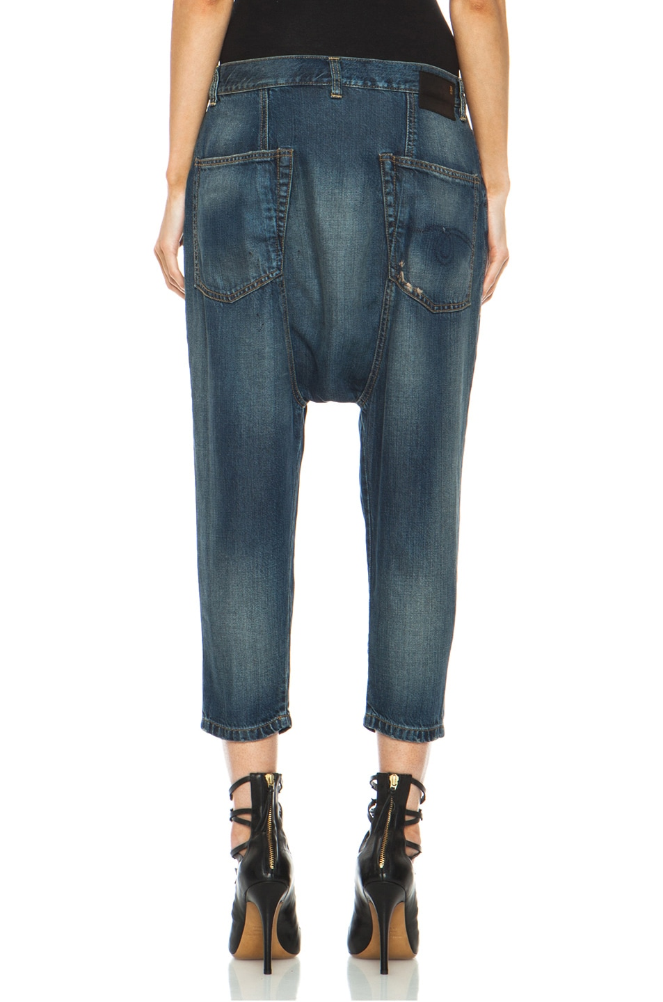 Image 4 of R13 Vintage Harem Jean in LC Blue