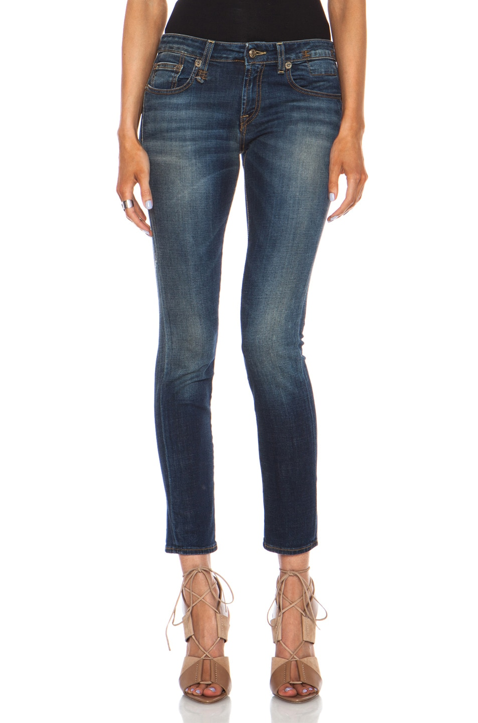 Image 1 of R13 Kate Skinny in Vintage Indigo
