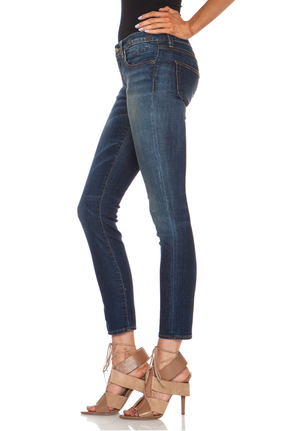 Image 2 of R13 Kate Skinny in Vintage Indigo