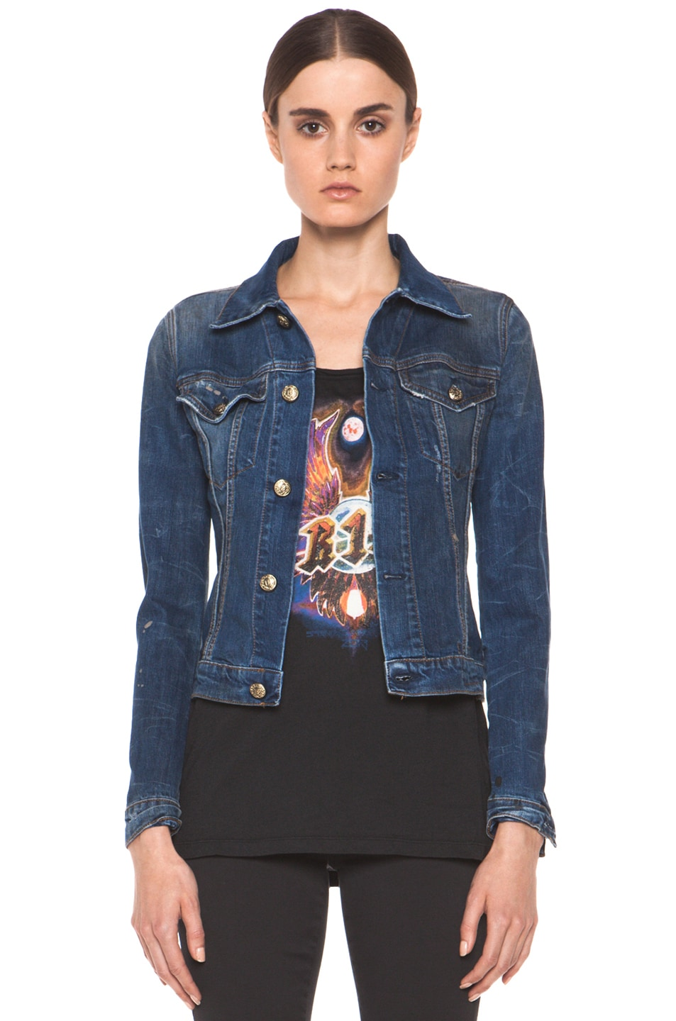 Image 1 of R13 Denim Jacket in Medium Blue