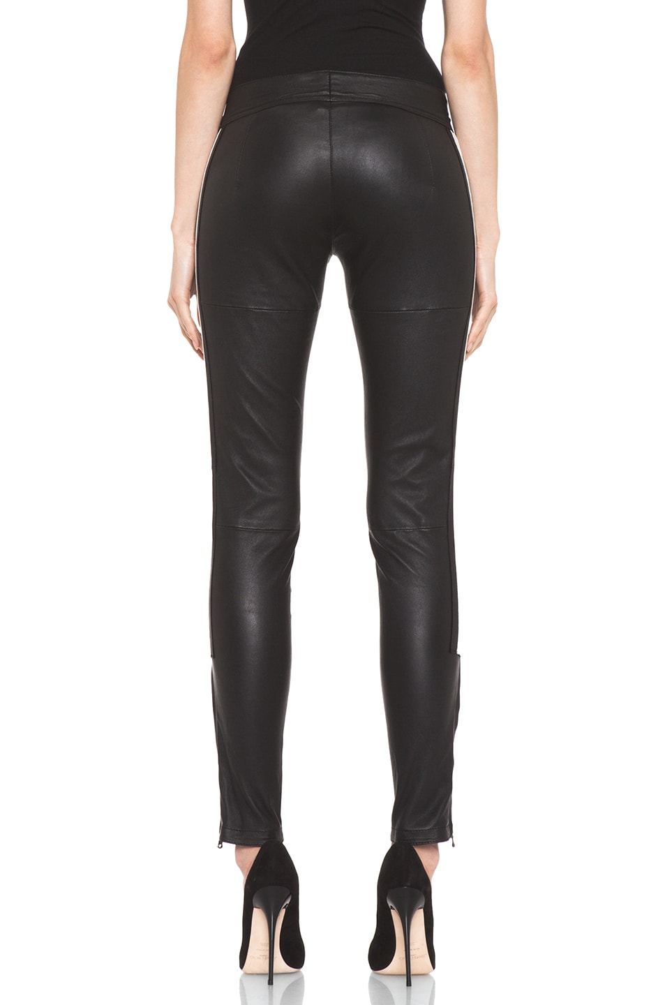 Image 4 of R13 Leather Racing Biker Pant in Black