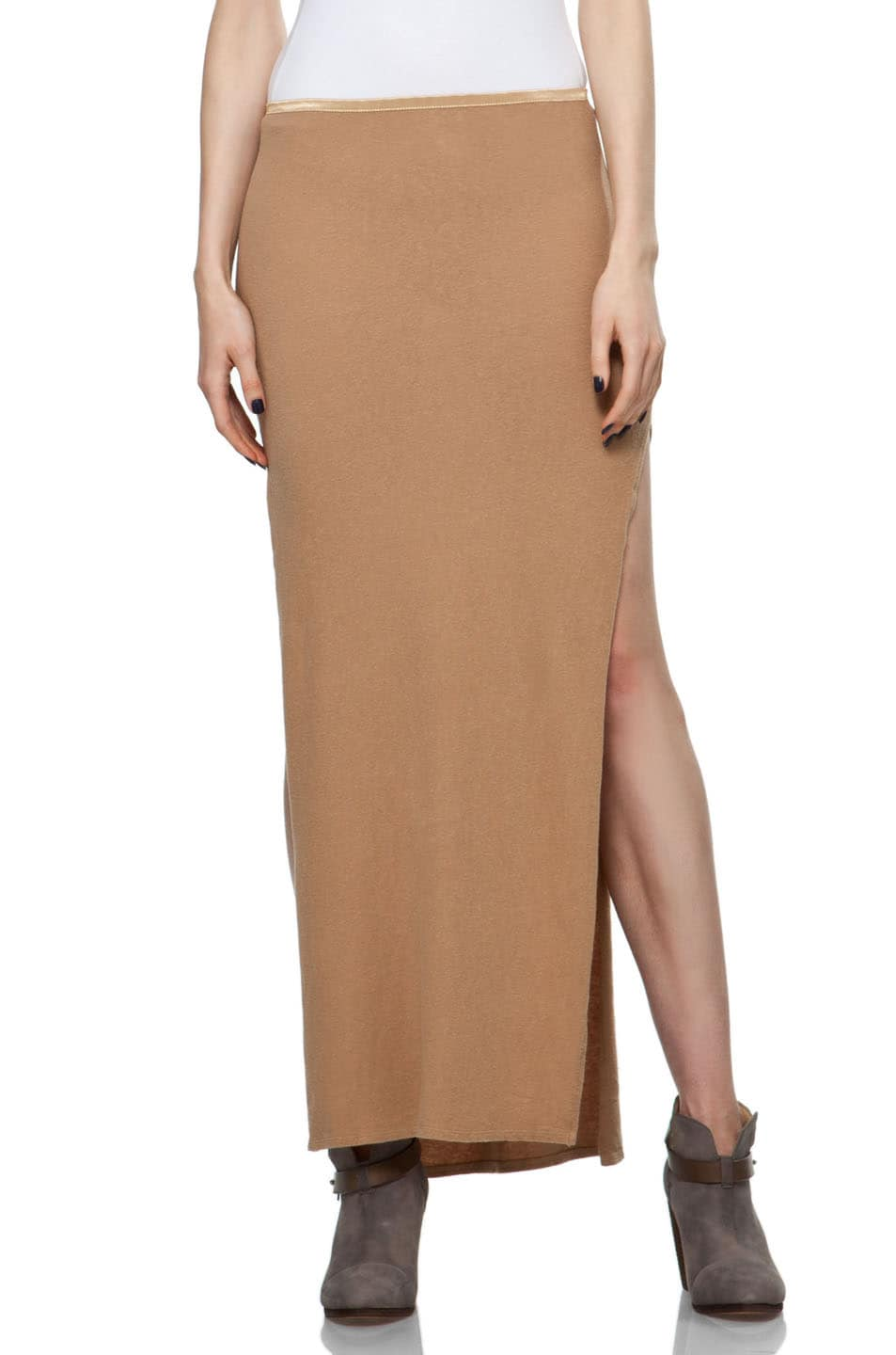 Image 1 of R13 Slit Skirt in Khaki
