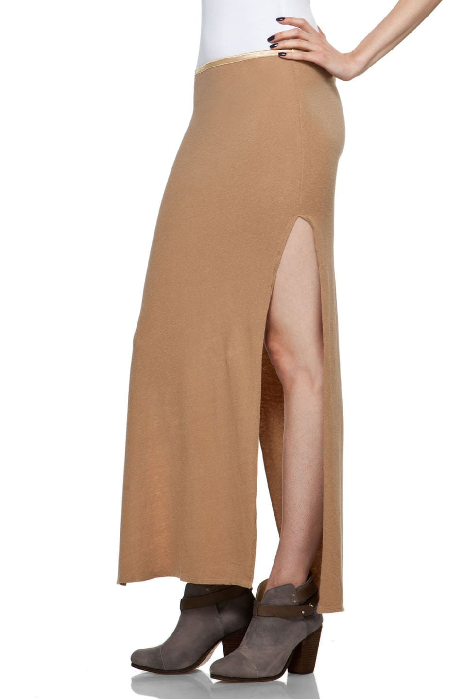 Image 2 of R13 Slit Skirt in Khaki