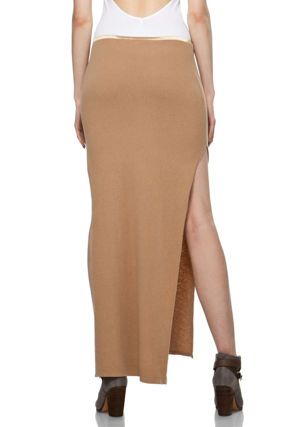 Image 4 of R13 Slit Skirt in Khaki