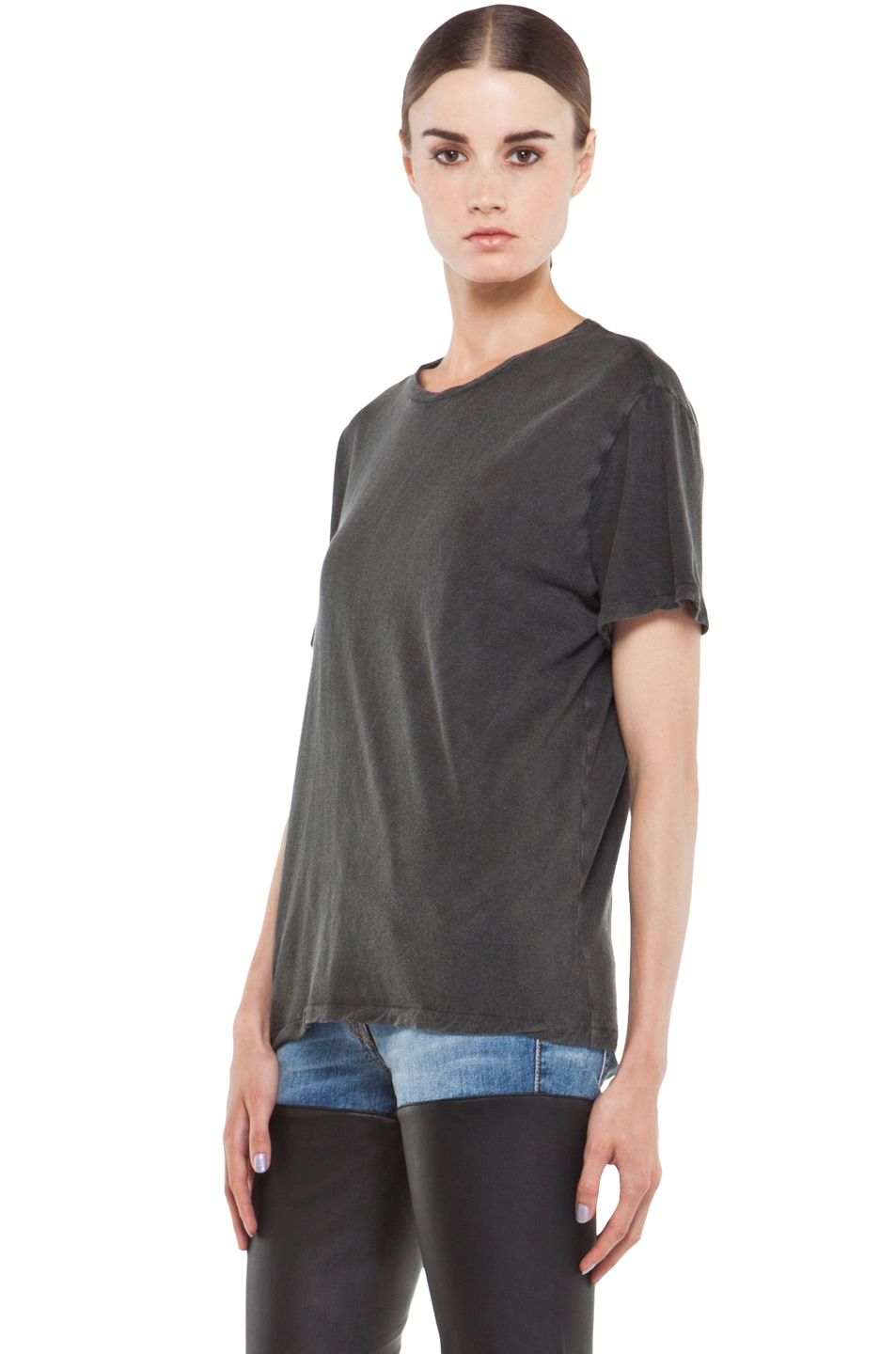 Image 2 of R13 Boy Tee in Wash Black