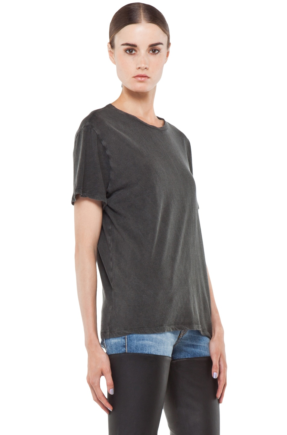 Image 3 of R13 Boy Tee in Wash Black