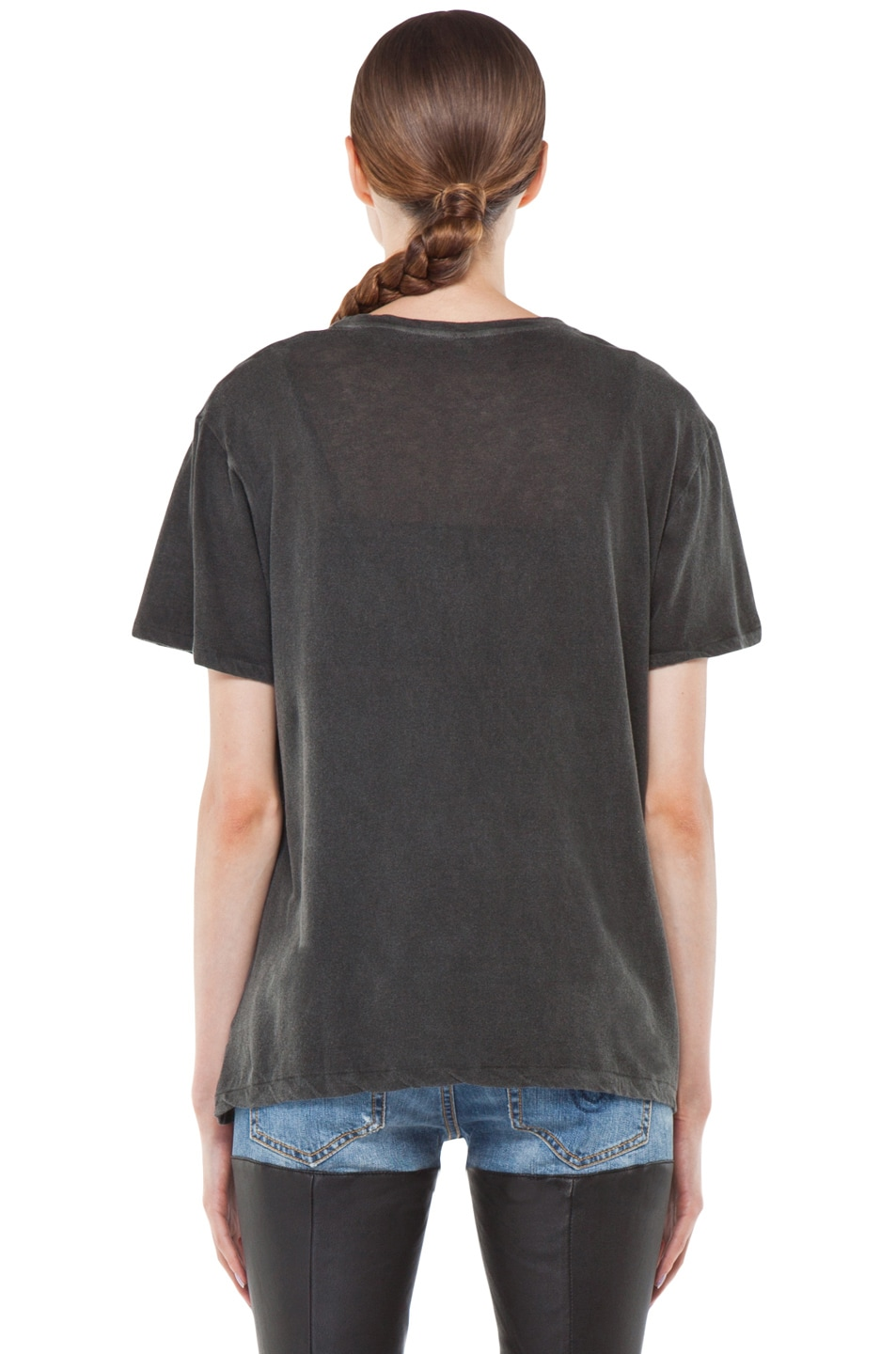 Image 4 of R13 Boy Tee in Wash Black