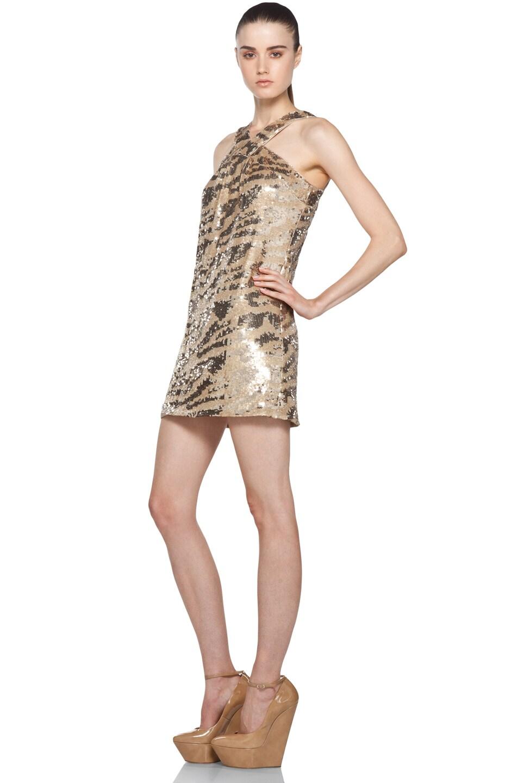 Image 2 of RACHEL ZOE Brenda Sequin Shift Dress in Gold