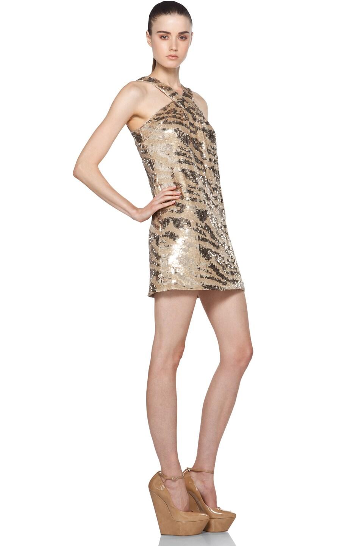 Image 3 of RACHEL ZOE Brenda Sequin Shift Dress in Gold