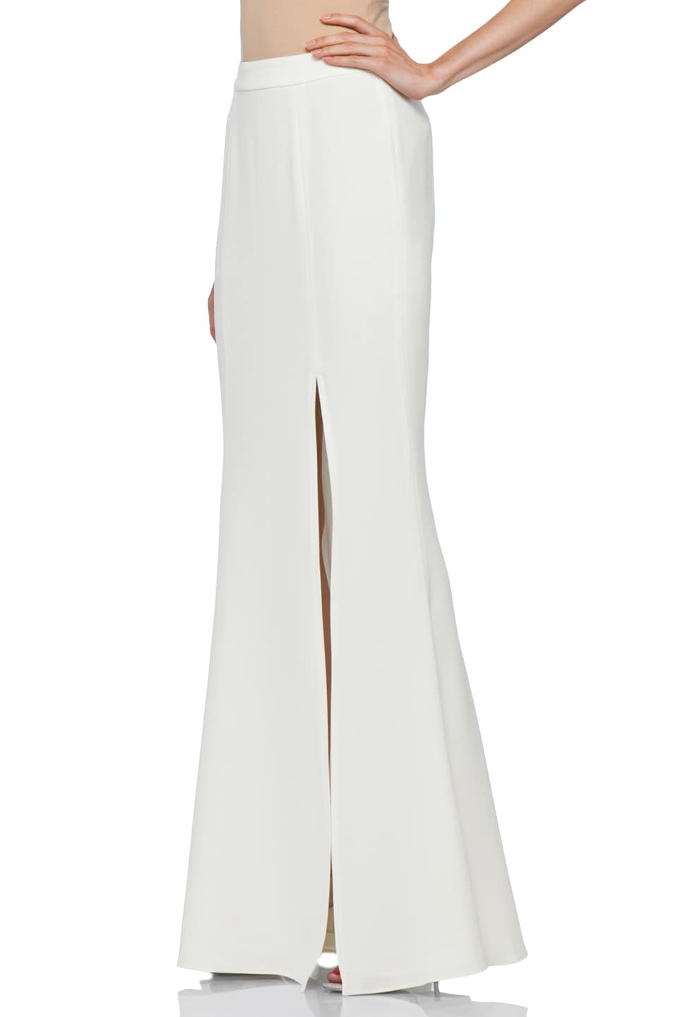 Image 2 of RACHEL ZOE Alia Flared Maxi Skirt in Snow