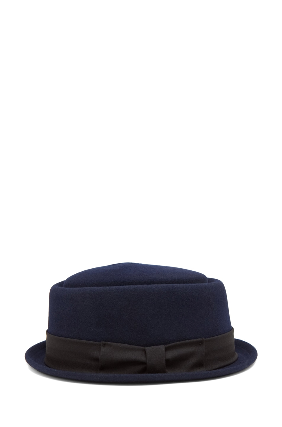 Image 3 of Rag & Bone Oval Pork Pie Hat in Navy