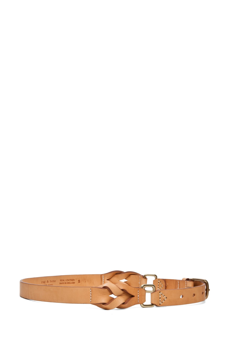 Image 3 of Rag & Bone Hopton Waist Belt in Natural
