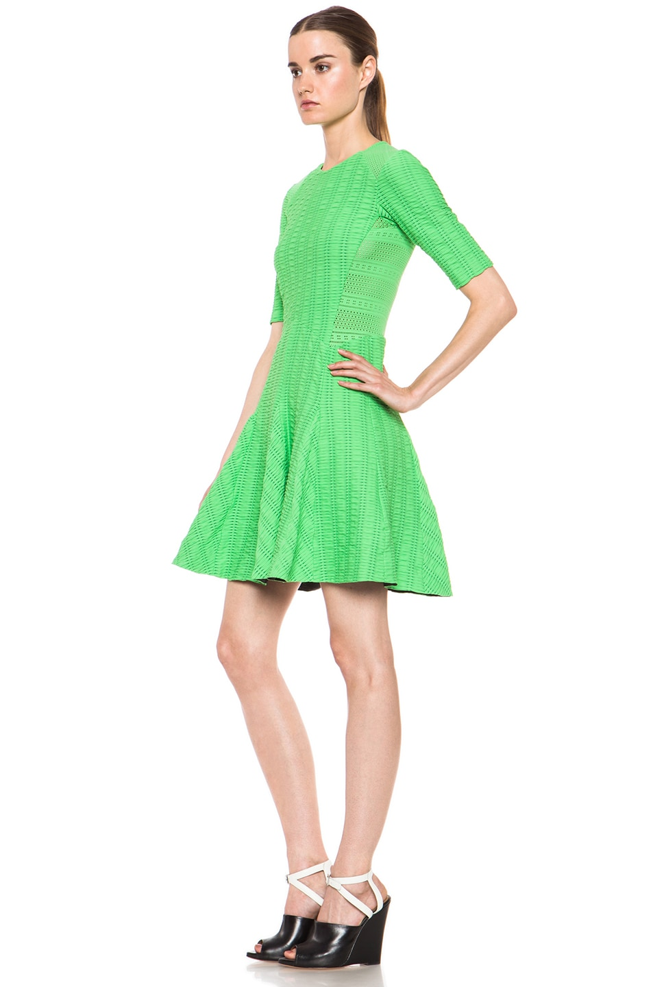 Image 2 of rag & bone Niki Flare Dress in Green