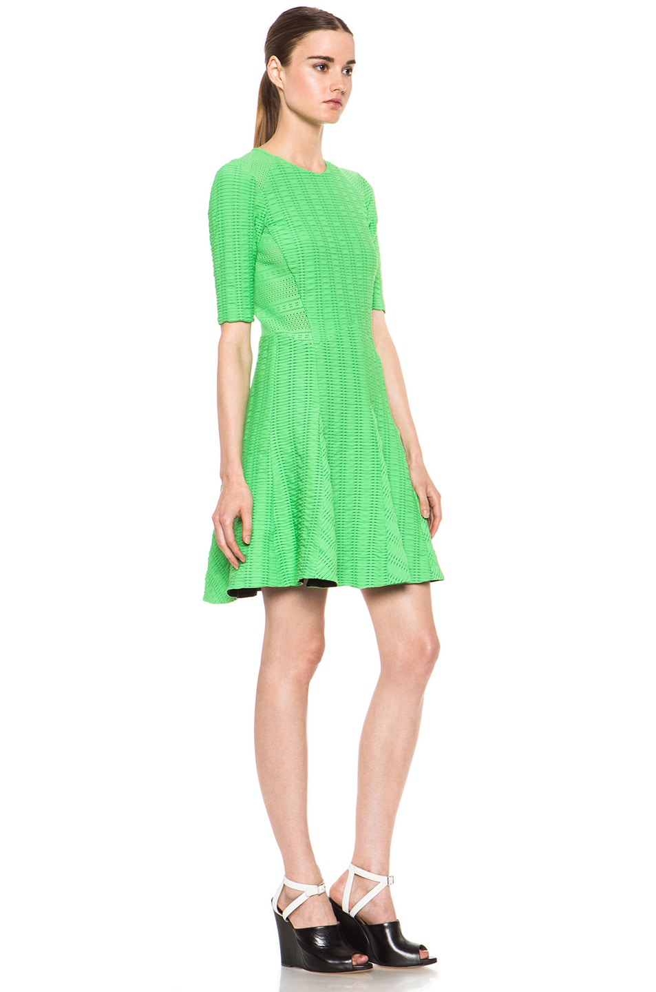 Image 3 of rag & bone Niki Flare Dress in Green